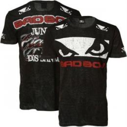 Camiseta Bad Boy Preta e Vermelha Junior Cigano UFC