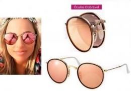 OCULOS RAY-BAN RB3517 ROUND - DOBRÁVEL 51 - ROSE