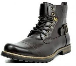 Imagem do Produto Bota Bruno MARC PHILLY Formal Toe Vintage Laced Up Side Zipper Military