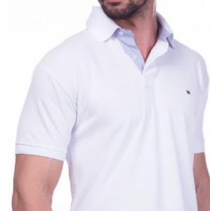 Camisa Polo Tommy Hilfiger branco