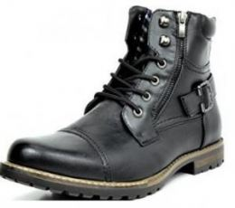 Imagem do Produto Bota Bruno Marc Vintage Laced Up Side Zipper Military